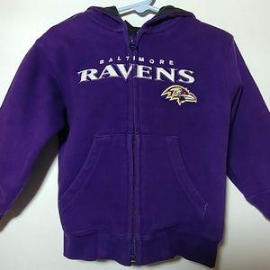 💜💜Baltimore Ravens boys 3T zip up Hoodie💜💜